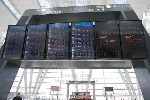 Airport displays in the new Skycourt building at the Budapest Airport in Budapest, Hungary on March 08, 2011. ATTILA VOLGYI