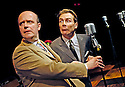 Round The Horne Revisited with Robin Sebastian as Kenneth Williams, Jonathan Rigby as Kenneth Horne opens at the Venue 22/1/03 CREDIT Geraint Lewis