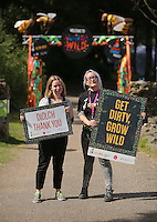 Pictured: Abigail Moss of Kew (R) Saturday 13 August 2016<br />Re: Grow Wild event at  Furnace to Flowers site in Ebbw Vale, Wales, UK