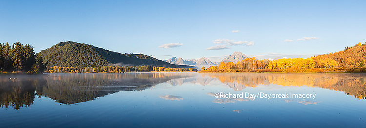 67545-08820 Sunrise at Oxbow Bend in fall, Grand Teton National Park, WY