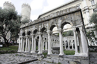 Il chiostro di Sant'Andrea a Genova.<br /> The cloister of Sant'Andrea in Genoa.<br /> UPDATE IMAGES PRESS/Riccardo De Luca