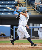Staten Island Yankees infielder Mike Ford (55) during game against the State College Spikes at Richmond County Bank Ballpark at St.George on August 8, 2013 in Staten Island, NY.  Staten Island defeated State College 6-5.  (Tomasso DeRosa/Four Seam Images)