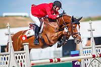 BEL-Jos Verlooy rides Igor during the First Competition - FEI World Team and Individual Jumping Championship. 2018 FEI World Equestrian Games Tryon. Tuesday 18 September. Copyright Photo: Libby Law Photography