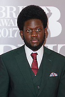 www.acepixs.com<br /> <br /> February 22 2017, London<br /> <br /> Michael Kiwanuka arriving at The BRIT Awards 2017 at The O2 Arena on February 22, 2017 in London, England.<br /> <br /> By Line: Famous/ACE Pictures<br /> <br /> <br /> ACE Pictures Inc<br /> Tel: 6467670430<br /> Email: info@acepixs.com<br /> www.acepixs.com