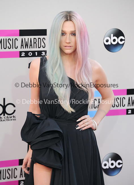 LOS ANGELES, CA - NOVEMBER 24: Ke$ha arrives at   The 2013 American Music Awards held at Nokia Live in Los Angeles, California on November 24,2013                                                                               © 2013 Hollywood Press Agency