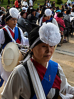 Folklore bei Feier zu Buddha's Geburtstag, Andong, Provinz Gyeongsangbuk-do, Südkorea, Asien<br /> Folklore at celebrations for Buddha's birthday  in Andong,  province Gyeongsangbuk-do, South Korea, Asia
