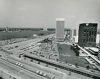 1971 May 17..Redevelopment.Downtown South (R-9)..Financial District.Main Street.Waterside Drive.Looking SW..HAYCOX PHOTORAMIC INC..NEG#..