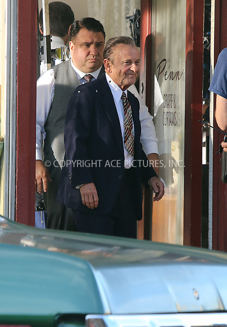 www.acepixs.com<br /> <br /> October 19 2017, Suffern NY<br /> <br /> Actor Joe Pesci on the set of the new movie 'The Irishman' on October 19 2017 in Suffern, NY.<br /> <br /> By Line: Philip Vaughan/ACE Pictures<br /> <br /> <br /> ACE Pictures Inc<br /> Tel: 6467670430<br /> Email: info@acepixs.com<br /> www.acepixs.com
