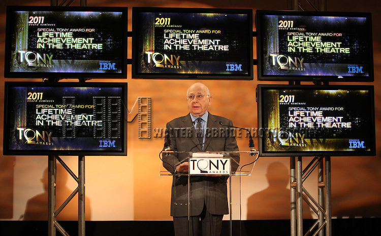 Paul Libin.attending the 2011 Tony Award Nomination Announcements at Lincoln Center in New York City.