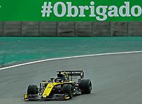15th November 2019; Autodromo Jose Carlos Pace, Sao Paulo, Brazil; Formula One Brazil Grand Prix, Practice Day; Daniel Ricciardo (AUS) Renault Sport F1 Team RS19 - Editorial Use
