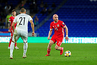 Jonny Williams of Wales in action during the UEFA Euro 2020 Qualifier match between Wales and Azerbaijan at the Cardiff City Stadium in Cardiff, Wales, UK. Friday 06, September 2019