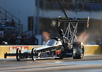 Oct 14, 2016; Ennis, TX, USA; NHRA top fuel driver Troy Buff during qualifying for the Fall Nationals at Texas Motorplex. Mandatory Credit: Mark J. Rebilas-USA TODAY Sports