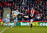 Lynden Gooch of Sunderland challenged by John Lundstram of Sheffield Utd  during the Championship match at Bramall Lane Stadium, Sheffield. Picture date 26th December 2017. Picture credit should read: Simon Bellis/Sportimage