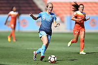 Houston, TX - Saturday May 13, 2017: Sky Blue FC midfielder Nikki Stanton (7) during a regular season National Women's Soccer League (NWSL) match between the Houston Dash and Sky Blue FC at BBVA Compass Stadium. Sky Blue won the game 3-1.
