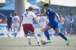 Glasgow Rangers (in white and red) vs Leicester City (in blue) during their Main Tournament Cup Semi-Final match, part of the HKFC Citi Soccer Sevens 2017 on 28 May 2017 at the Hong Kong Football Club, Hong Kong, China. Photo by Chris Wong / Power Sport Images