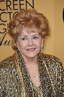 Debbie Reynolds at the 2015 Screen Actors Guild  Awards at the Shrine Auditorium.<br /> January 25, 2015  Los Angeles, CA<br /> Picture: Paul Smith / Featureflash