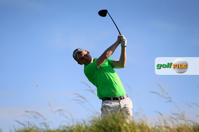 Geoffrey Lenehan (Portmarnock) on the 15th tee during Round 2 of the South of Ireland Amateur Open Championship at LaHinch Golf Club on Thursday 23rd July 2015.<br /> Picture:  Golffile | Thos Caffrey
