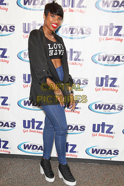 BALA CYNWYD, PA - JULY 3 : Jennifer Hudson visits WDAS performance theater  brfore her Wawa Welcomes America 4th of July performance on the Parkway in Bala Cynwyd, Pa on July 3, 2014   <br /> CAP/MPI/STA<br /> &copy;Star Shooter/MediaPunch/Capital Pictures
