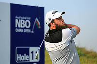 Andrew Johnson (ENG) during previews ahead of the first round of the NBO Open played at Al Mouj Golf, Muscat, Sultanate of Oman. <br /> 14/02/2018.<br /> Picture: Golffile | Phil Inglis<br /> <br /> <br /> All photo usage must carry mandatory copyright credit (&copy; Golffile | Phil Inglis)