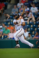 Richmond Flying Squirrels Hamlet Marte (14) at bat during an Eastern League game against the Binghamton Rumble Ponies on May 29, 2019 at The Diamond in Richmond, Virginia.  Binghamton defeated Richmond 9-5 in ten innings.  (Mike Janes/Four Seam Images)