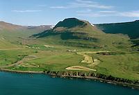 Staður (Staðarhús) og Bær, séð til suðurs, Suðureyrarhreppur / Stadur, Stadarhus and Baer, viewing south, Sudureyrarhreppur.