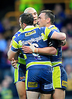 PICTURE BY CHRIS MANGNALL /SWPIX.COM...Rugby League -  Super League  - Leeds Rhinos v Hull FC - Headingley Carnegie Stadium , Leeds, England  - 06/07/12... Leeds   Danny McGuire and Carl Ablett congratulate Kevin Sinfield