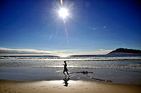 Jogging at the Beach, Cape Peninsula, South Africa 2009