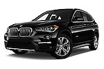 Stock pictures of low aggressive front three quarter view of 2017 BMW X1 xDrive28i 5 Door SUV Low Aggressive
