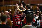 18.11.2017,  Lueneburg GER, VBL, SVG Lueneburg vs TV Rottenburg im Bild die Rottenburger Mannschaft bedankt sich bei den mitgereisten Fans/ Foto © nordphoto / Witke