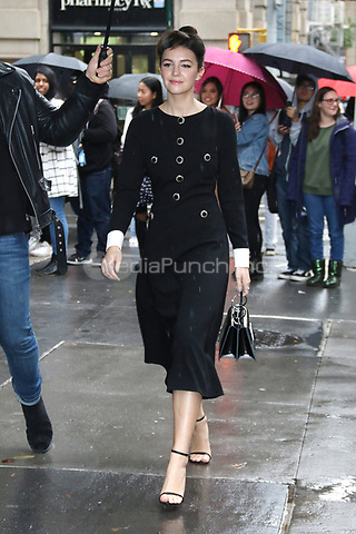 NEW YORK, NY- OCTOBER 31: Ella Hunt seen exiting Build Series in New York City on October 31, 2019. Credit: RW/MediaPunch