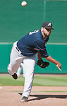 Reno Aces closer Jonathan Albaladejo throws against the Tucson Padres in their game played on Monday afternoon, September 3, 2012 in Reno, Nevada.