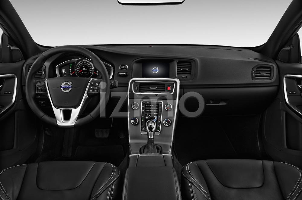Stock photo of straight dashboard view of 2018 Volvo S60 T5 4 Door Sedan Dashboard