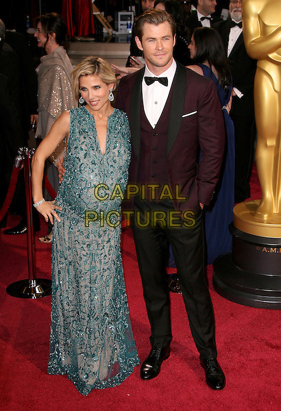 02 March 2014 - Hollywood, California - Chris Hemsworth, Elsa Pataky. 86th Annual Academy Awards held at the Dolby Theatre at Hollywood &amp; Highland Center. <br /> CAP/ADM<br /> &copy;AdMedia/Capital Pictures