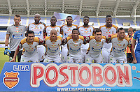 PEREIRA -COLOMBIA- 16-11-2014. Jugadores del Deportes Tolima posan para una foto previo al encuentro con Aguilas Pereira por la fecha 1 de los cuadrangulares finales de la Liga Postobon II 2014 jugado en el estadio Hernán Ramírez Villegas de Pereira./ Players of Deportes Tolima pose to a photo prior a match against Aguilas Pereira for the first date of the final quadrangular of the  Postobon League II 2014 played at Hernan Ramirez Villegas of Pereira city.  Photo:VizzorImage/ CONT