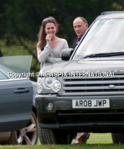 """Please telephone +441279 324672/0777 5681153 for usage..KATE MIDDLETON'S TETE-A TETE WITH JAMIE LOWTHER-PINKERTON.Observing Kate looking down in the dumps, Jamie Lowther-Pinkerton, Prince William's Private Secretary takes a moment before having a lengthy tete-a-tete with her..Kate Middleton watched the boyfriend Prince William play in the Chakravarty Cup at Beaufort Polo Club_Cirencester_18/07/2009.Mandatory Photo Credit: ©Dias/Newspix International..**ALL FEES PAYABLE TO: """"NEWSPIX INTERNATIONAL""""**..PHOTO CREDIT MANDATORY!!: NEWSPIX INTERNATIONAL(Failure to credit will incur a surcharge of 100% of reproduction fees)..IMMEDIATE CONFIRMATION OF USAGE REQUIRED:.Newspix International, 31 Chinnery Hill, Bishop's Stortford, ENGLAND CM23 3PS.Tel:+441279 324672  ; Fax: +441279656877.Mobile:  0777568 1153.e-mail: info@newspixinternational.co.uk"""