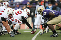 11 November 2006: Mikal Brewer during Stanford's 20-3 win over the Washington Huskies in Seattle, WA.