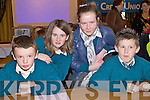 Pupils from Nagle Rice N.S., Milltown at the Credit Union Quiz on Sunday, from left: Killian Kerins, Roisin Whelan, Lorna McCarthy and Oisin Bolger.