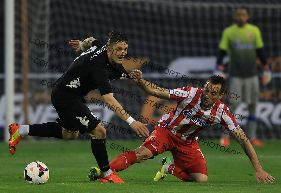 Fudbal Jelen super league season 2013-2014<br /> Crvena Zvezda v Cukaricki<br /> Nikola Stojiljkovic (L) and Savo Pavicevic<br /> Beograd, 04.12.2014.<br /> foto: Srdjan Stevanovic/Starsportphoto&copy;