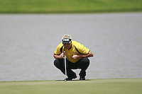Daniel Chopra (SWE) lines up his putt on the 18th green during Sundays Final Round 3 of the 54 hole Iskandar Johor Open 2011 at the Horizon Hills Golf Resort Johor, Malaysia, 19th November 2011 (Photo Eoin Clarke/www.golffile.ie)