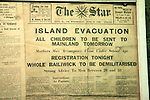 The Star newspaper island Evacuation June 1940, German Underground Military hospital, Guernsey, Channel Islands, UK