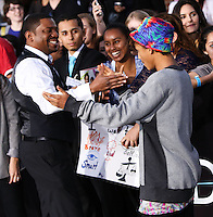 "WESTWOOD, LOS ANGELES, CA, USA - MARCH 18: Mekhi Phifer, Jaden Smith at the World Premiere Of Summit Entertainment's ""Divergent"" held at the Regency Bruin Theatre on March 18, 2014 in Westwood, Los Angeles, California, United States. (Photo by Xavier Collin/Celebrity Monitor)"