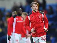 Fleetwood Town's Jack Sowerby during the pre-match warm-up <br /> <br /> Photographer Kevin Barnes/CameraSport<br /> <br /> The EFL Sky Bet League One - Oxford United v Fleetwood Town - Tuesday 10th April 2018 - Kassam Stadium - Oxford<br /> <br /> World Copyright &copy; 2018 CameraSport. All rights reserved. 43 Linden Ave. Countesthorpe. Leicester. England. LE8 5PG - Tel: +44 (0) 116 277 4147 - admin@camerasport.com - www.camerasport.com