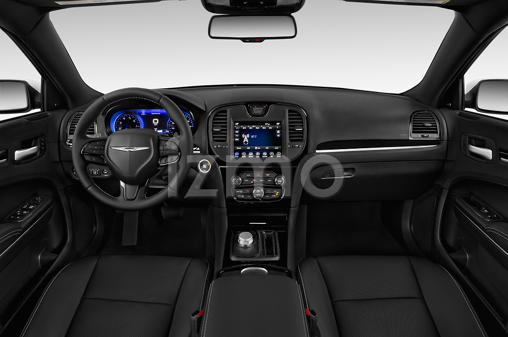 Stock photo of straight dashboard view of a 2019 Chrysler 300 S 4 Door Sedan