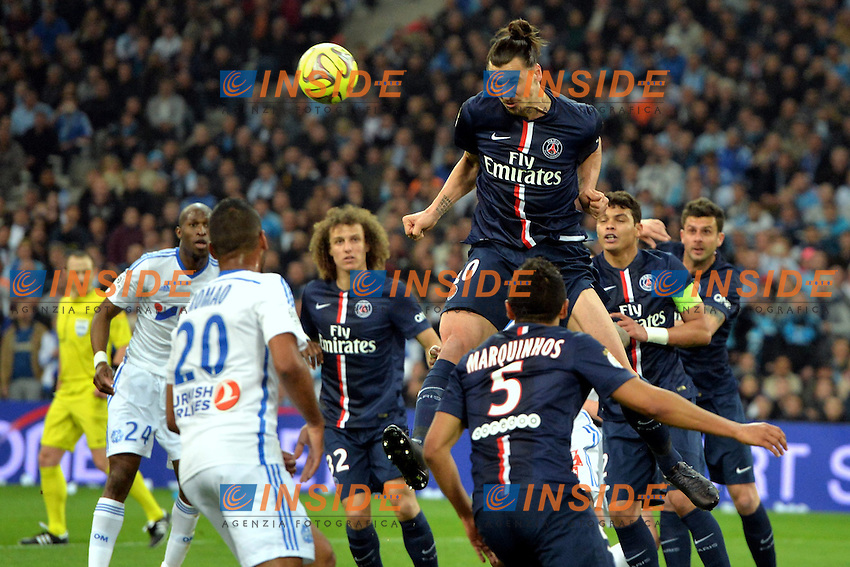 Zlatan Ibrahimovic (psg) <br /> Football Calcio 2014/2015<br /> Ligue 1 Francia Stadio VelodromeOlympique Marsiglia - Paris Saint Germain <br /> Foto Panoramic / Insidefoto <br /> ITALY ONLY