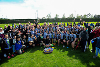 The St Mary's team and supporters celebrate winning the 2017 1st XV rugby Top Four girls' final between St Mary's College and Hamilton Girls' High School at Sport and Rugby Institute in Palmerston North, New Zealand on Sunday, 10 September 2017. Photo: Dave Lintott / lintottphoto.co.nz