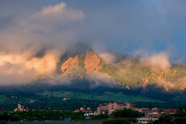 First Flatiron in a foggy sunrise, Boulder, Colorado John offers private photo tours of Boulder, Denver and Rocky Mountain National Park. .  John leads private photo tours in Boulder and throughout Colorado. Year-round Colorado photo tours.