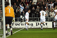 Pictured: Jordi Gomez of Swansea City Celebrates <br />