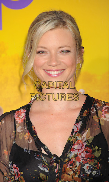 "Amy Smart,.arriving at the Los Angeles Premiere of ""The Help"" at the Samuel Goldwyn Theater inside the Academy of Motion Picture Arts and Sciences in Beverly Hills, California, USA, August 9th 2011..portrait headshot  black sheer floral print .CAP/ROT/TM.©TM/Roth Stock/Capital Pictures"