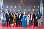 Marcos Franz, Will Shephard, Annette Trumel, Bruna Cusi, Nicolas Ronchi, Jaume Ulled, Itziar Castro, Mariam Bachir, Daniel M. Caneiro, Nicolas Onetti and Andres Goteira attends to 'Blood Red Carpet' at Sitges Film Festival in Barcelona, Spain October 11, 2017. (ALTERPHOTOS/Borja B.Hojas)