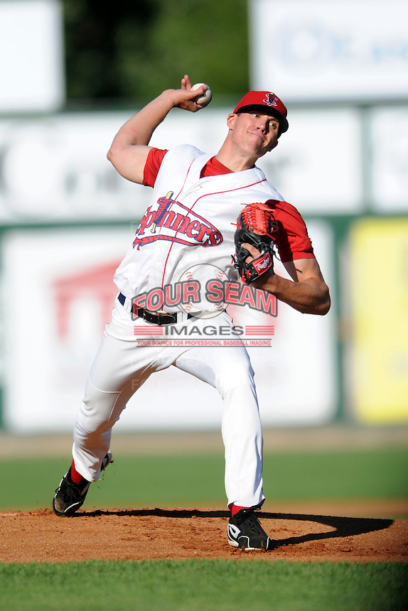 Lowell Spinners pitcher Pat Light #30 during a game versus the Connecticut Tigers at LeLacheur Park in Lowell, Massachusetts on August 26, 2012.  (Ken Babbitt/Four Seam Images)